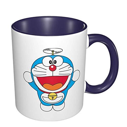 IUBBKI - Taza de té de café con dibujos animados de Doraemon, taza de té grande para oficina en casa, 11 onzas, apta para lavavajillas y microondas, 1 pieza (blanco)