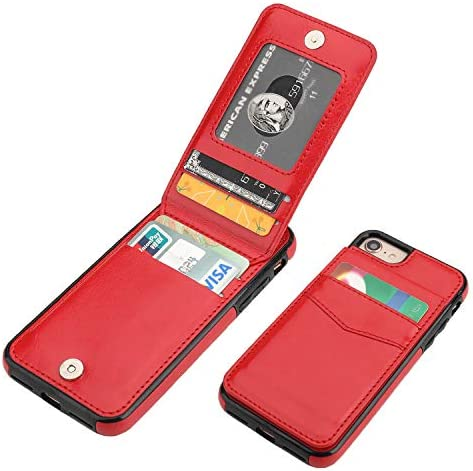iPhone 7 iPhone 8 iPhone SE 2020 Case Wallet with Credit Card Holder KIHUWEY Premium Leather product image