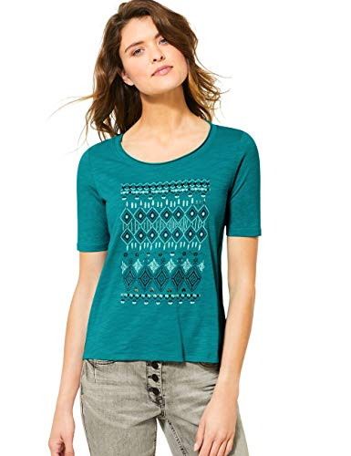 Cecil Damen 314960 T-Shirt, vital Emerald Green, Large