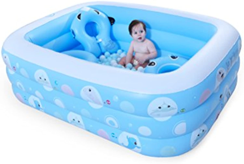schuhe stool ZI LING Shop- Baby Fisch Baby Aufblasbare Pool Familie Baby Erwachsene Groe Paddle Pool Verdickung Home Marine Ball Pool (120x82x42 cm) (gre   145x105x50cm)