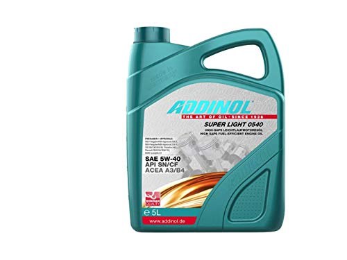 ADDINOL SUPER LIGHT 5W-40 A3/B4 Motorenöl, 5 Liter