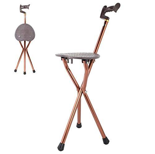 Handige Cane Seat, Statief Metalen Draagbare Opvouwbare Wandelstok Stoel Stoel Kruk Travel Cane Chair voor Fishing Garden Camping Event Stool, voor ouderen, cadeau voor ouders