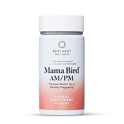 Mama Bird Prenatal Multi+, Methylfolate (Folic Acid), Methylcobalamin (B12), Natural Whole Food Organic Herbal Blend, Vegan, Once Daily Prenatal Vitamins, Immune Support, 30 Count, Best Nest Wellness
