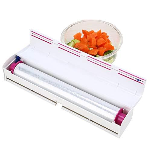 Fuyamp Folienspender & Cutter Küchenrollenhalter Lebensmittelfolie Papier Folienschneider Schnell Wrap Frischhaltefolie und Alufolienspender/Cutter für Zuhause Küche Restaurant