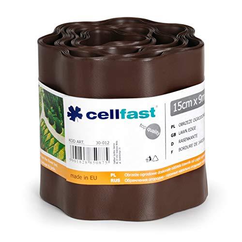 Cellfast, verja de césped marrón, 22x 22x 0,1cm