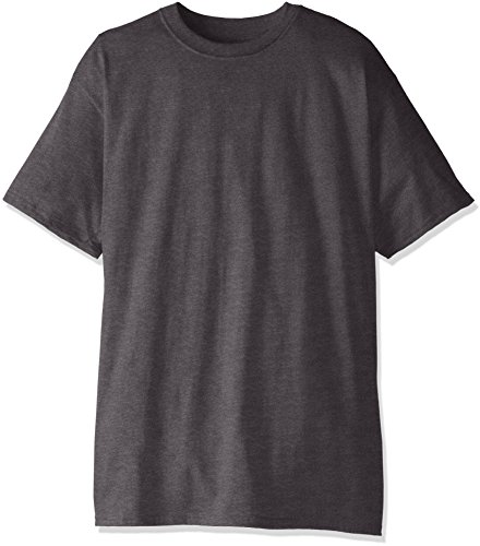 Hanes Men's Size Short-Sleeve Beefy T-Shirt (Pack of Two), Charcoal Heather, 3X-Large Tall