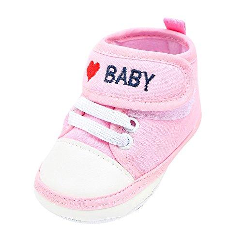 Patifia Niedlich Baby Säugling Kind Junge Mädchen Weiche Sohle Leinwand Sneaker Kleinkind Schuhe Brief Liebe Drucken Baumwolltuch Krabbelschuhe Freizeitschuhe Klettverschluss Babyschuhe