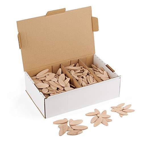 Flachdübel Set von WFix   wie Lamello 20 10 0   Flachdübel Sortiment mit 500 Holzdübel   geeignet für Lamellofräse Flachdübelfräse makita mit Fräser 4mm für Holz