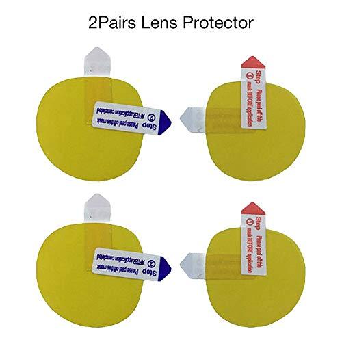 Hook.s 2 Paar Lens Protector HD Schutzfolie Displayschutzfolie für Oculus Quest Oculus Rift S Virtual Reality