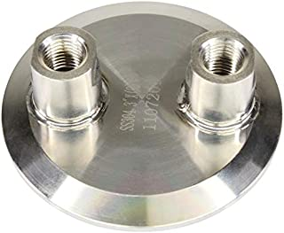 Best Value Vacs 3 inch Tri-Clamp by (2) 1/4 inch FNPT End Cap