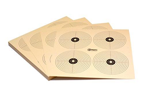 Zielscheiben *Target X4R* / 26x26 cm/Schießscheibenkarton 200 g/m² Chamois (50 Stück)