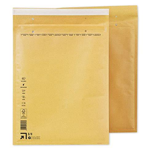 Enveloppen met luchtkussen, 290 x 370 mm, luchtkussentas, H8, witte en bruine verzendtas DIN B4, keuze uit verschillende hoeveelheden 100 bruin