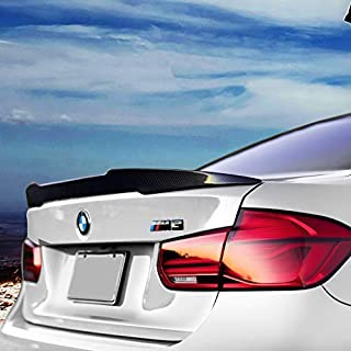Spoiler, Carbon Fiber Rear Spoiler for BMW M3 F80 2014-18, Glued Adhesive, Easy Installed