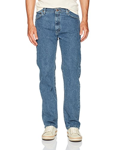 Wrangler Authentics Men's Regular Fit Comfort Flex Waist Jean, Light Stonewash, 40W x 30L