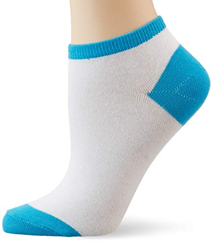 Urban Classics Damen Contrast Sneaker Socks Füßlinge, Multicolour (Wht/Tur 00241), 35/38 (size: 35-39)