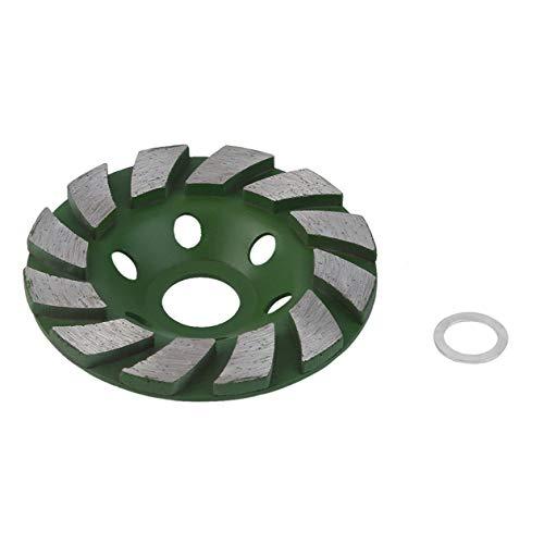 BIYI Duurzaam gebruik 100mm 4 inch diamantslijpschijf betoncup disc beton metselwerk steen gereedschap schaal vorm slijpsteen (groen)