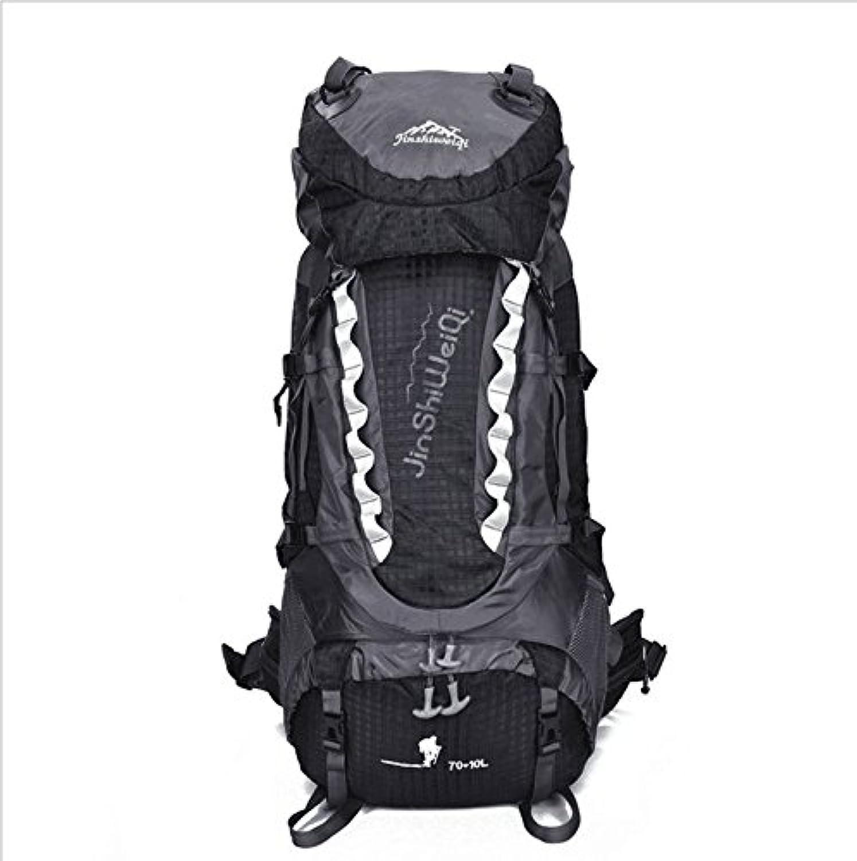Olprkgdg Wandern Rucksack Reise Daypack wasserdicht mit Regenschutz für Camping Bergsteigen (Farbe   schwarz)