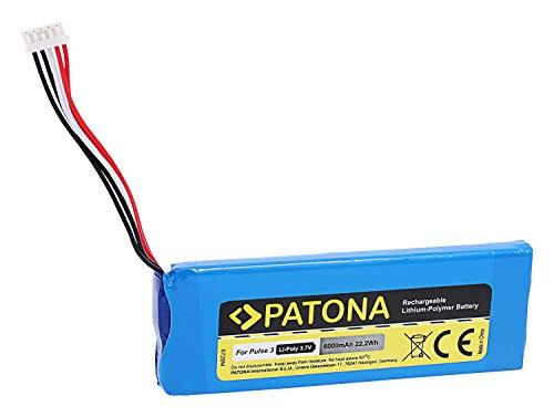 PATONA 6728 compatible avec JBL Pulse 3 (6000 mAh) - Remplace la batterie 2017DJ1714 APJBLPUESE3 P5542100-P.