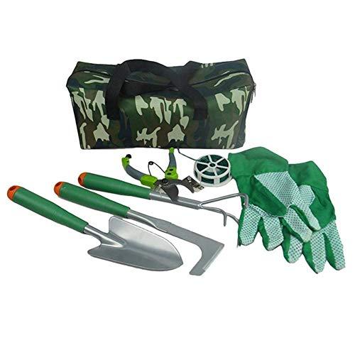 Yuany Gartenschaufel, Spaten und Schaufel-Set, Gartengeräte-Set Blumen 8-teilige Gartengeräte mit Aufbewahrungsorganisator für Camping im Freien Wandern Rucksackwandern Jagd