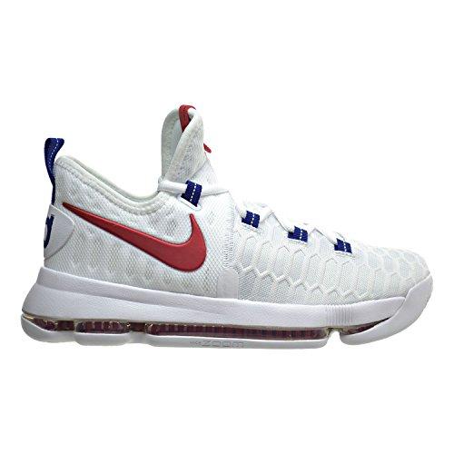 Nike Zoom KD9 (GS), Zapatillas de Baloncesto para Niños, Blanco (White/University Red), 37 1/2 EU