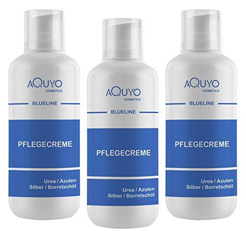 Blueline Creme bei Ekzem, Hautpilz, Psoriasis oder Neurodermitis (3x 500ml)   Körpercreme für trockene, unreine, entzündete Haut   Hautcreme zur Hautpflege bei Juckreiz und Hautirritationen