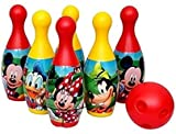 Vision Appliances Bowling Game Set for Kids with 6 Pin 1 Ball Sport Toys Gift for Baby Boys Girls Age 3 4 5 6 Years Old