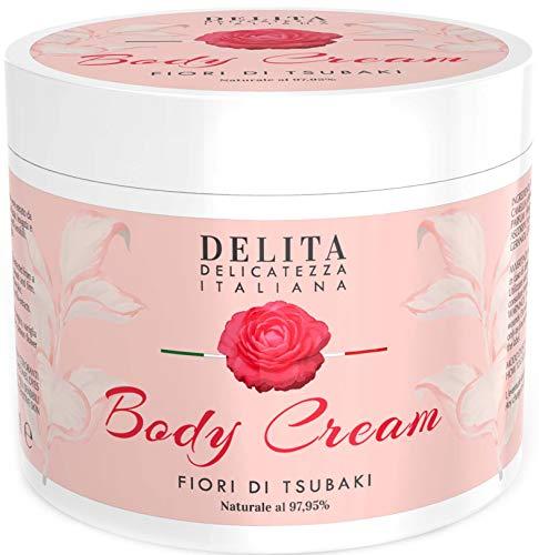 Body Cream Dulàc DELITA | 16.91 Fl. Ounce | 97,95% Natural Body Cream Moisturizer for dry skin | With Tsubaki Oil, Passionflower and Vanilla extracts | Anti Aging Body Lotion