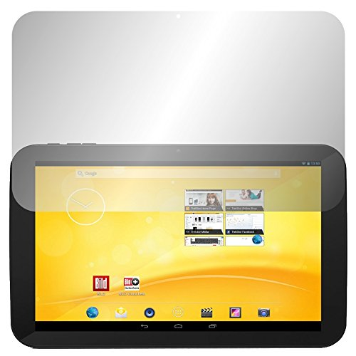 Slabo 2 x Bildschirmschutzfolie für Trekstor Volks-Tablet 3G (2.Generation) Bildschirmschutz Schutzfolie Folie Crystal Clear KLAR