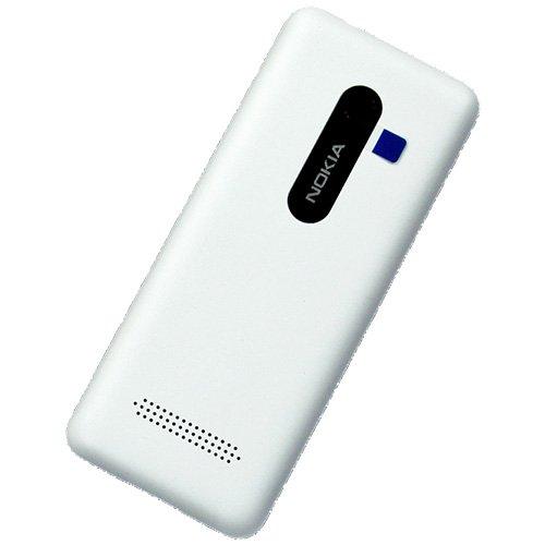 Nokia Asha 206Single SIM originale bianco copri batteria bianco batteria copertura posteriore della batteria della batteria porta