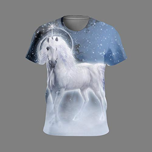 XiaoHeJD Nuevo 3D Galaxy Wolf Print T-Shirt Hombres Mujeres Moda 3D Hip Hop Camiseta Cool Animal Manga Corta Summer Wolf T-Shirts, 20, XXXXL