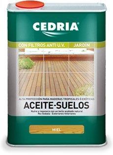 Aceite Suelos de Madera Cedria Incoloro Miel 4 litros