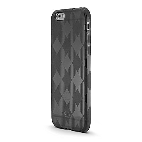 iLuv Gelato iPhone 6 Case Soft Flexible Lightweight Tpu Protective Case with Fashionable Checker Pattern - Black