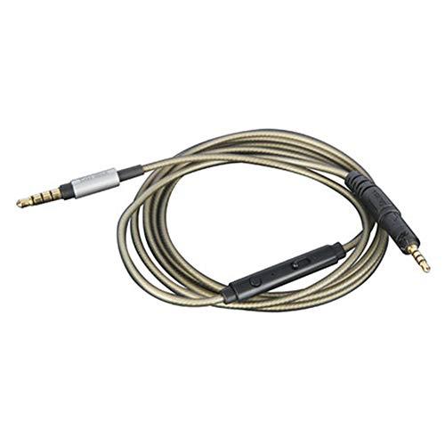OKCSC ATH-M50x vervangende audiokabel, verzilverde draad vervangende oortelefoonkabel geschikt met HD microfoon voor ATH…