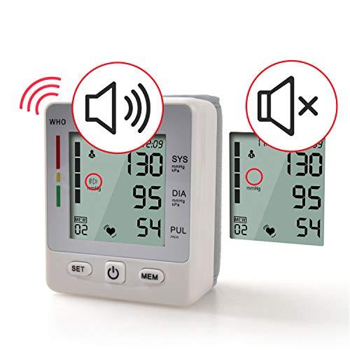 BABIFIS Misuratore di Pressione sanguigna da Polso Ricaricabile Misuratore di Pressione sanguigna da Polso LCD Portatile Tonometro a Battito Cardiaco