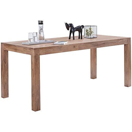 FineBuy Esstisch Massivholz Akazie 120 x 60 x 76 cm Esszimmer-Tisch Design Küchentisch modern Landhaus-Stil Holztisch rechteckig dunkel-braun Natur-Produkt Massivholzmöbel Echt-Holz