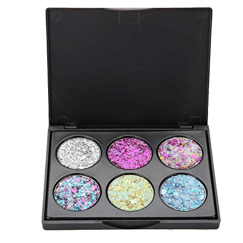 6 Farben Kinder Bühnen Make up Augen Kosmetik Glitzernden Lidschatten Augen Basis Glanz Make up(EK 06)
