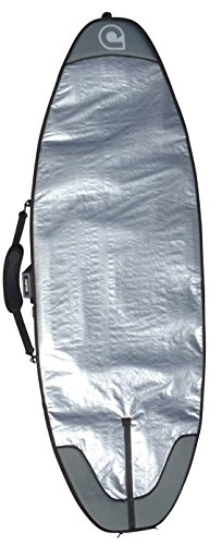 SUP Bag for Wave Boards - Compact SUP Travel Cover - Size 7'6 to 12'6 3 MASSIVE 20mm boosted nose and tail foam zones!! heavyweight 600D water-resistant polycanvas base & silver tarpee upper 7mm waterproof shock absorbing travel specification foam core compact style SUP cover for wave riding style SUP boards