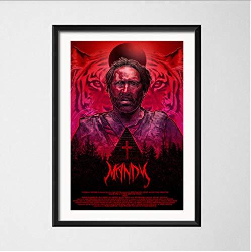 Mandy Nicolas Käfig Hot Cult Film Horror Kunst Malerei Seide Leinwand Poster Wand Wohnkultur 50 * 70Cm No Frame