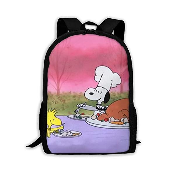 415PcJpqhtL. SS600  - LIUYAN Custom Snoopy Mochila de Picnic Casual Mochila Escolar Bolsa de Viaje Daypack Regalo