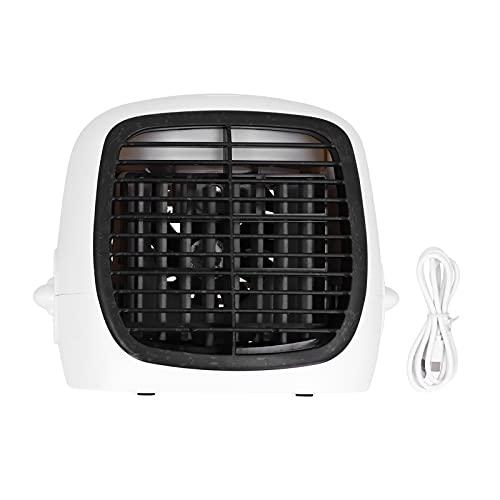 Enfriador de aire, ventilador de escritorio, carga USB, ahorro de energía para el hogar, para la oficina, para el dormitorio