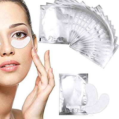 Fodlon Eye Gel Pads, 50Pairs Set Eyelash Extension Pads,Eye Pads?Hydrogel Eye Patch? Eyelash Extension Supplies? Lint Free DIY False Eyelash Lash Extension Makeup Eye Gel Patches