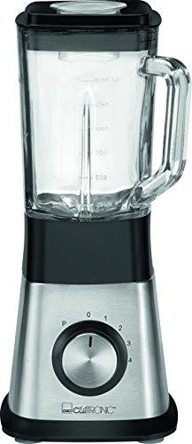 Clatronic UM 3644 roestvrijstalen blender met Ice-Crush-functie en 4 roestvrijstalen messen, 1,5 liter glazen reservoir, 650 W