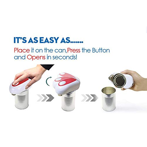 WXQ Automatischer Soft Edge Elektro-Dosenöffner Multifunktionaler Dosenöffner Kreativer Haushaltswaren-Flaschenöffner mit einem Knopf