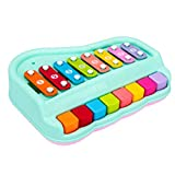 TOYANDONA Baby Xylophon Handschlag Klavier mit acht Tönen Baby Schlaginstrument