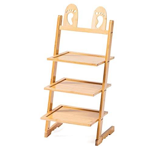 XXCHUIJU Zapato Rack Bambú Zapato Rack Forma Forma Zapatillas Almacenamiento Organizador Zapato Estante Estante Lindo Stand Shelves para Habitaciones para niños, 4 Zapatos Organizer (Size : 4 Tiers)