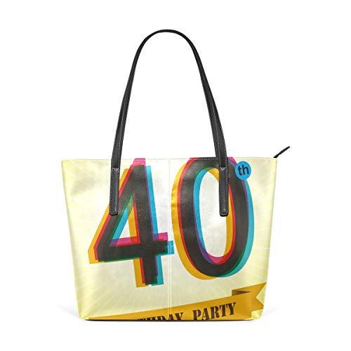NR Multicolour Fashion Damen Handtaschen Schulterbeutel Umhängetaschen Damentaschen,40. Geburtstag Vintage Einladung drucken