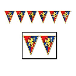 Beistle Medieval Pennant Banner