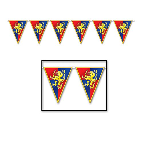 Beistle 57719 Medieval Pennant Banner, 10-Inch by 12-Feet