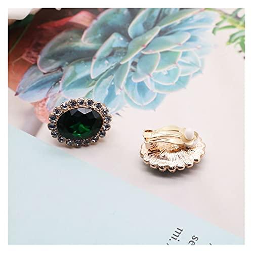 xilinshop Colgantes de Mujer Collar de Encanto Colgante Verde Elegante, Collar romántico de Doble Capa Gargantilla de Perla Collar Colgante (Metal Color : Clip 1)