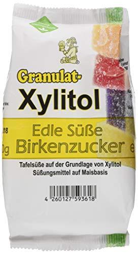 Eurovera Xylitol Birkenzucker Granulat, Nachfüllpack (1 x 500 g)